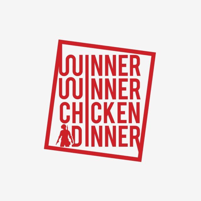 Winner Winner Chicken Dinner Pubg Logo Red Pubg 3d Pubg Pubg Png