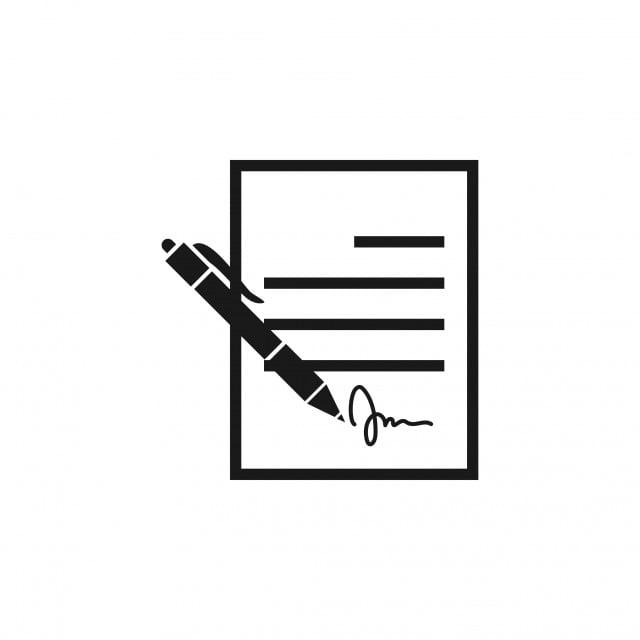contrat signe ic u00f4ne mod u00e8le vector isol u00e9 r u00e9sum u00e9 accord contexte png et vecteur pour