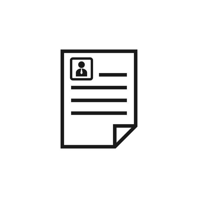 Curriculum Vitae Icon Design Template Vector Isolated