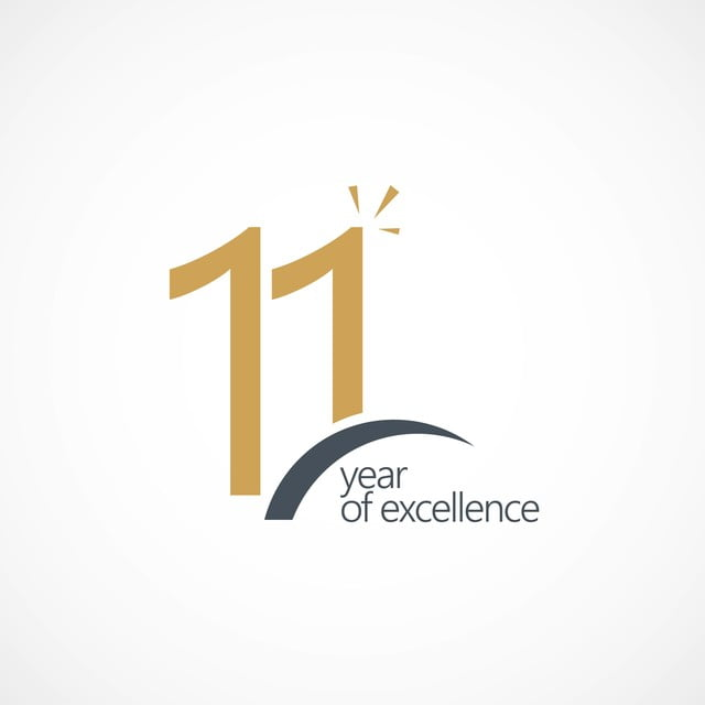 11 year of excellence vector template design illustration