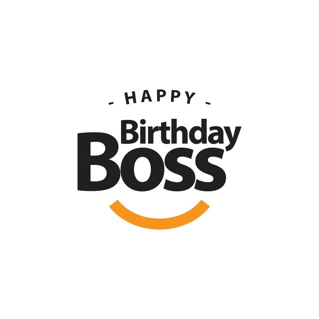 Feliz Cumpleaños Jefe Vector Template Design Illustration