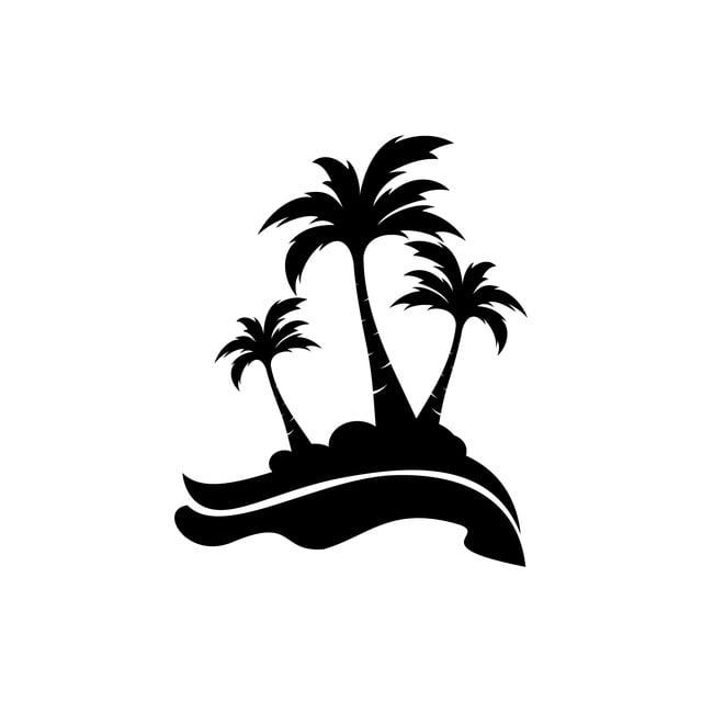 palm pohon kelapa logo ikon  abstrak  agensi  latar