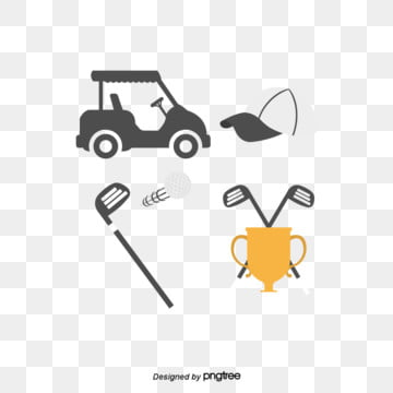 Creative and Simple Elements of Golf Cap Cup, Trophy, Simple, Golf PNG and Vector