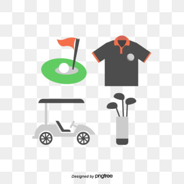 Golf  Golf Car  Club  Golf Top  Grassland Cave  Creative and Simple Elements, Clubs, Simple, Grassland PNG and Vector