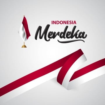 indonesia merdeka flag vector template design illustration, Indonesia, Independence, Indonesian PNG and Vector