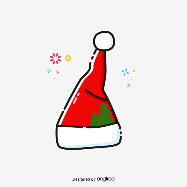 Christmas Hat Vector Png.Cartoon Red Christmas Hat Cartoon Lovely Christmas