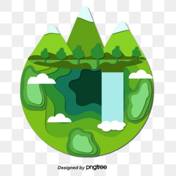 Creative Earth Day with Simple Hand Painted Paper cut Style, Protect The Earth, Earth Care, Paper-cut PNG and Vector