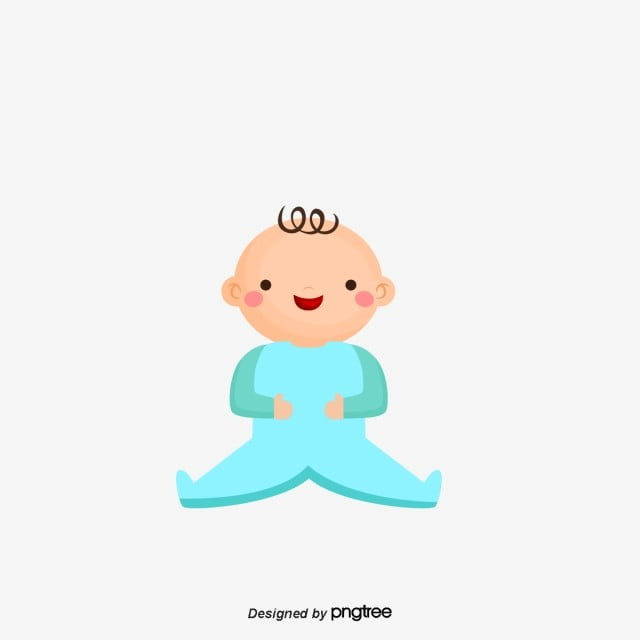 Cartoon Blue Baby, Cartoon, Lovely, Baby PNG and Vector ...