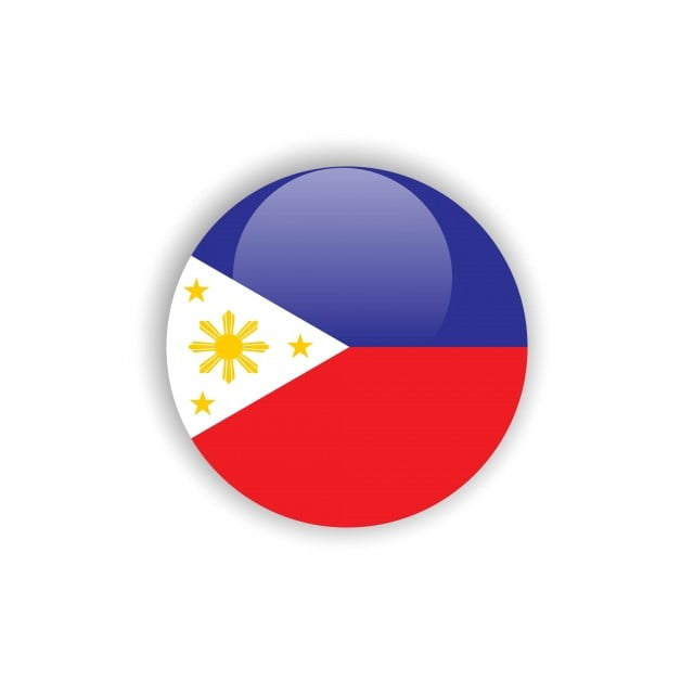 Button Philippines Flag Vector Template Design, Flag