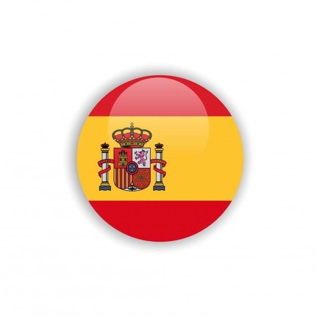 Espanha Bandeira Botão Vector Design Template Background Badge