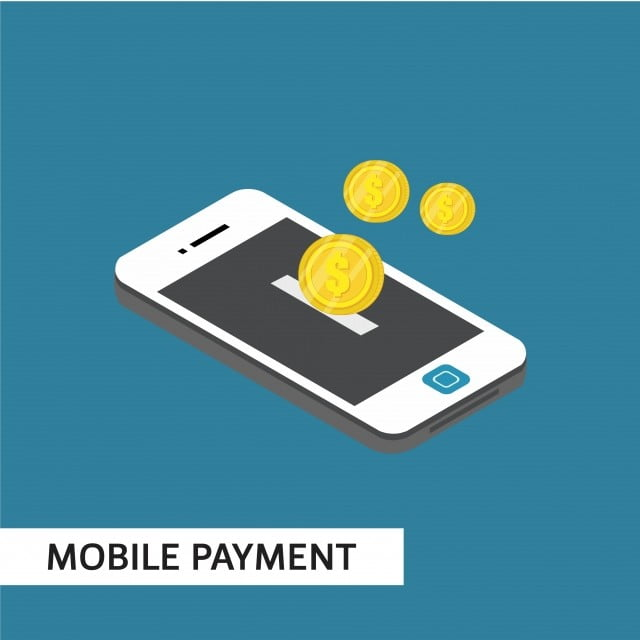 mobile payment isometric vector template design