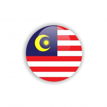 button malaysia flag vector template design, Malaysia, Flag, Round PNG and Vector