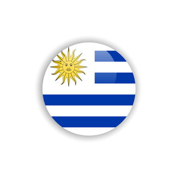 button uruguay flag vector template design, Uruguay, Flag, Button PNG and Vector