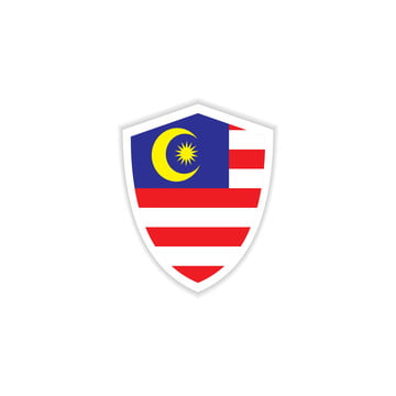 malaysia flag emblem vector template design illustration, Malaysia, Flag, Illustration PNG and Vector
