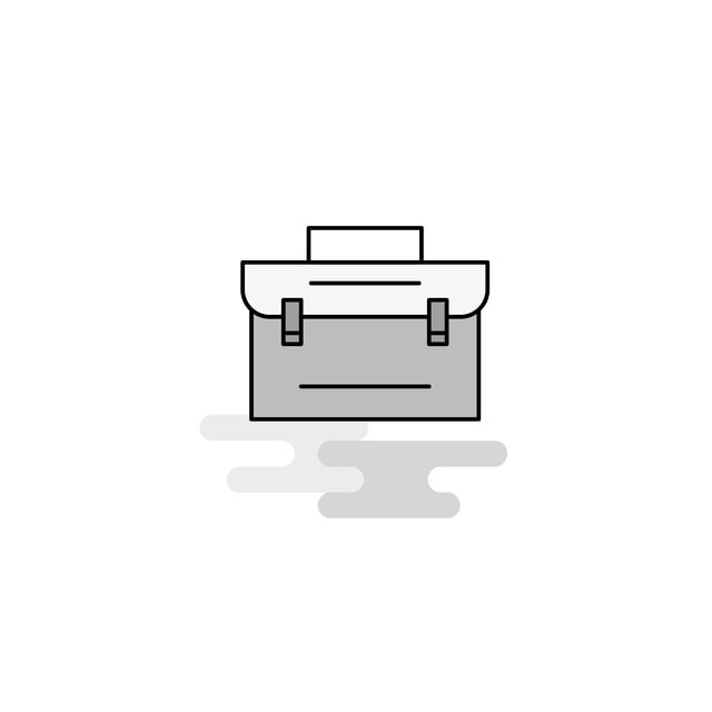 Awesome Briefcase Web Icon Flat Line Filled Gray Icon Vector Theyellowbook Wood Chair Design Ideas Theyellowbookinfo
