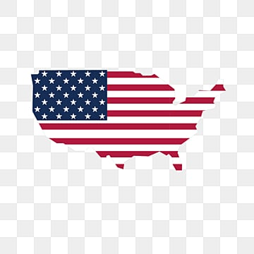American Flag Map Creative Elements, National Flag, Map, Usa PNG and Vector