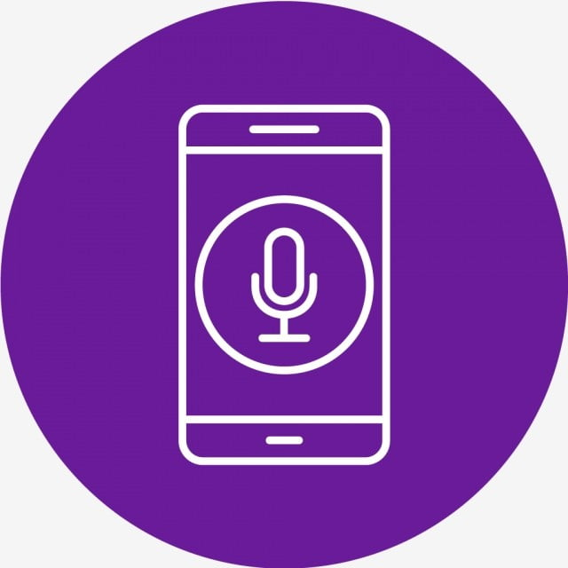 Vector Microphone Mobile Application Icon, Microphone, App