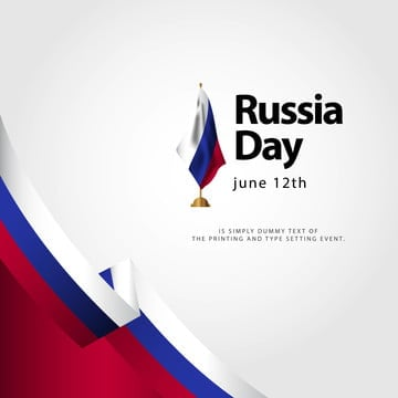 russia day flag vector template design illustration, Russia, Day, June PNG and Vector