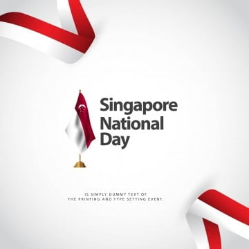 singapore national day vector template design illustration, Singapore, Day, National PNG and Vector