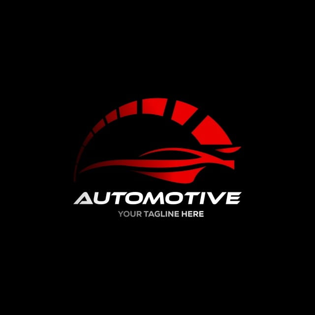 Car Logo In Simple Line Graphic Design Template Vector ...