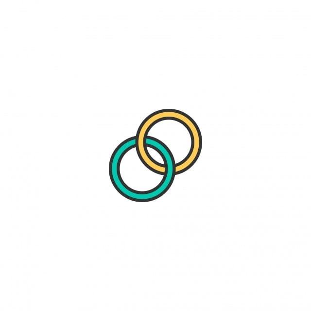 Wedding Rings Icon Design Lifestyle Icon Vector Design Logo