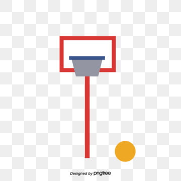 Cartoon Simple Red Basketball Rack, Bodybuilding, Cartoon, Simple PNG and Vector
