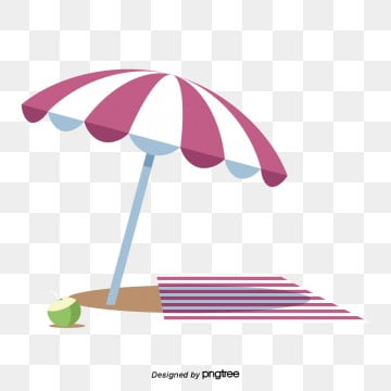 Cartoon Summer Red Sunshade Umbrella, Rest, Cartoon, Summer PNG and Vector