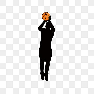 simple basketball player silhouette elements, Athletic Sports, Creative, Silhouette PNG and Vector