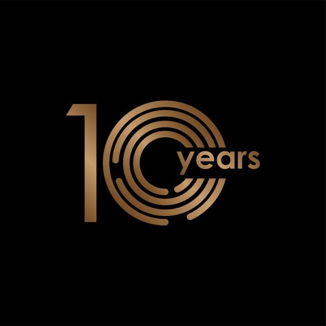 10 Year Anniversary Luxury Gold Black Logo Vector Template Design Illustration Logo Icons Black Icons Template Icons Png And Vector With Transparent Background For Free Download