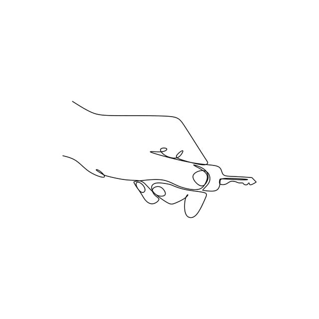 Continuous Line Drawing Of A Hand And A Key Key Graphic Hand Png And Vector With Transparent Background For Free Download Key business, hand with key, company, service, handpainted flowers png. https pngtree com freepng continuous line drawing of a hand and a key 4165905 html