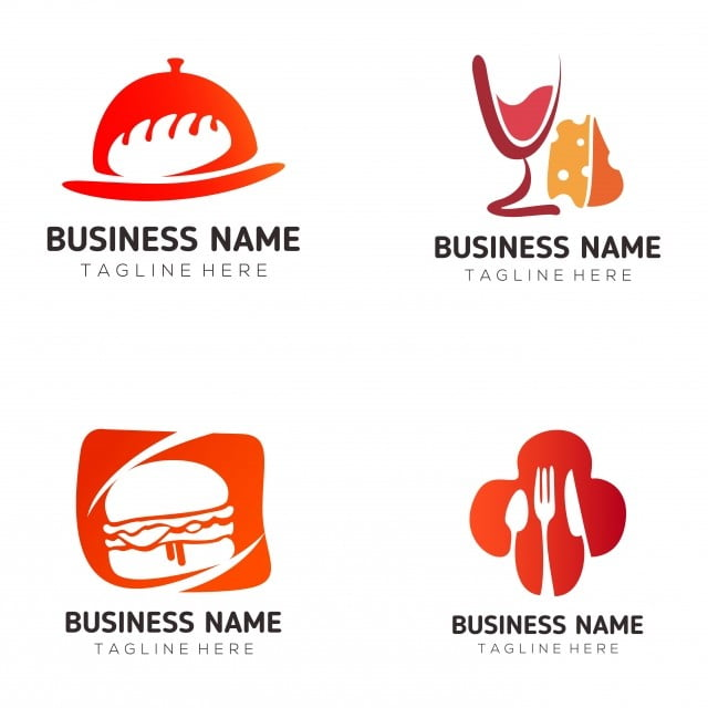 Makanan Dan Minuman Logo Dan Reka Bentuk Ikon Daging Lembu