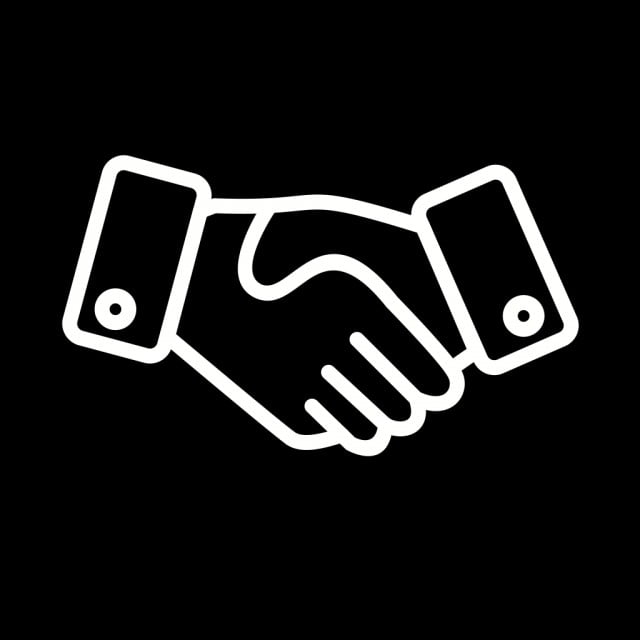 Vektor Berjabat Tangan Ikon Perjanjian Perjanjian Ikon