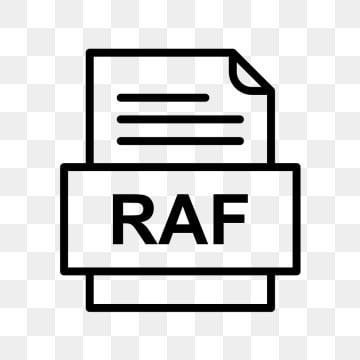 RAF File Document Icon, Raf, Document, File PNG and Vector