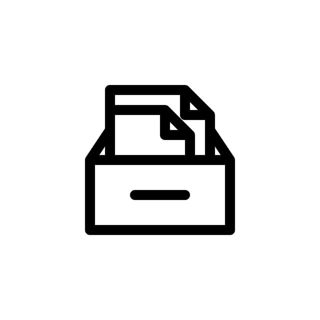 File Archive Icon With Line Style Vector Illustration ...
