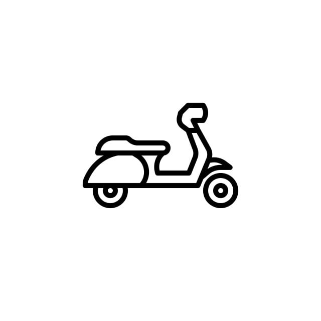 scooter icon with line style vector illustration icons converter icons fitness icons maker png and vector with transparent background for free download https pngtree com freepng scooter icon with line style vector illustration 4167997 html