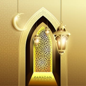elegant design of ramadan kareem background with hanging fanoos lantern   crescent, Background, Greeting, Islamic PNG and Vector