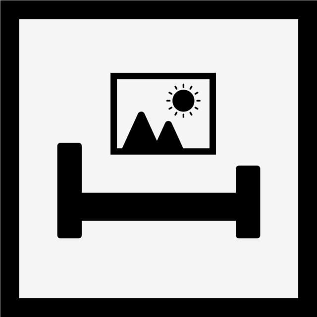 Vector Bed Room Icon Living Room Bedroom Bed Png And Vector For