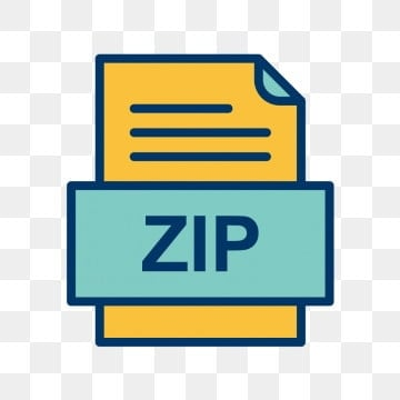 Zip File Document Icon, Zip, Document, File PNG and Vector