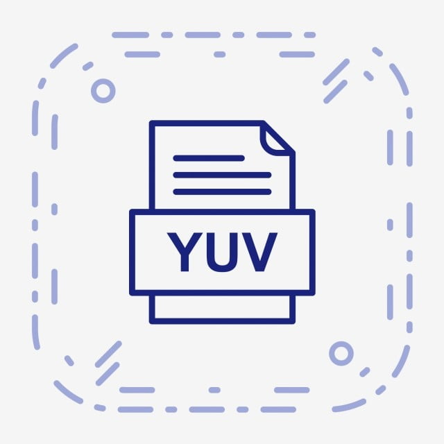 YUV File Document Icon, Yuv, Document, File PNG and Vector