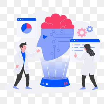 artificial intelligence illustration concept  flat design concept of web page design for website and mobile website vector illustration, Concept, Intelligence, Technology PNG and Vector