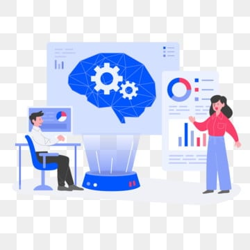 Deep Learning Illustration Concept  Flat design concept of web page design for website and mobile website Vector illustration, Technology, Concept, Network PNG and Vector