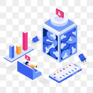 get more followers isometric illustration concept  isometric flat design concept of web page design for website and mobile website vector illustration, Isometric, Illustration, Organic PNG and Vector