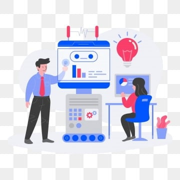 Machine Learning Illustration Concept  Flat design concept of web page design for website and mobile website Vector illustration, Illustration, Technology, Learning PNG and Vector