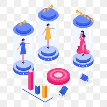niche market isometric illustration concept  isometric flat design concept of web page design for website and mobile website vector illustration, Isometric, Illustration, Niche PNG and Vector