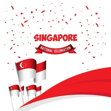 singapore national celebration poster vector template design illustration, Singapore, Day, National PNG and Vector