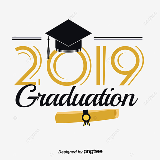 Black Gold Graduation Cap Scorecard 2019 Gradation Font Art Font For