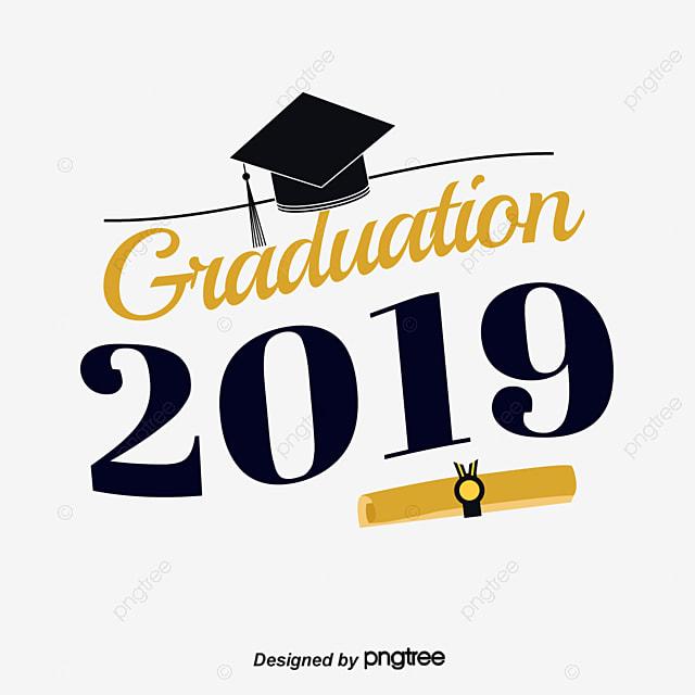 Graduation Cap Scorecard In Black Gold 2019 Graduation ...