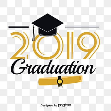 Black Gold Graduation Cap Scorecard 2019 Gradation Font Fonts