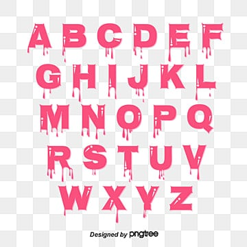 pink bubble graffiti style alphabet Fonts