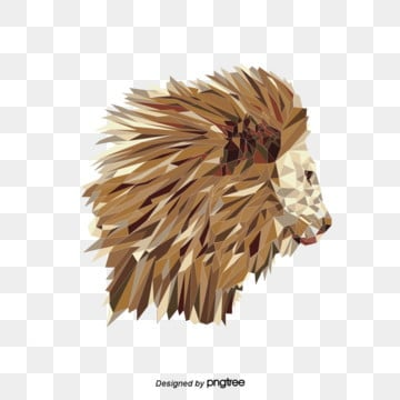yellow polygon abstract lion side, Animal, Abstract, Lion PNG and Vector